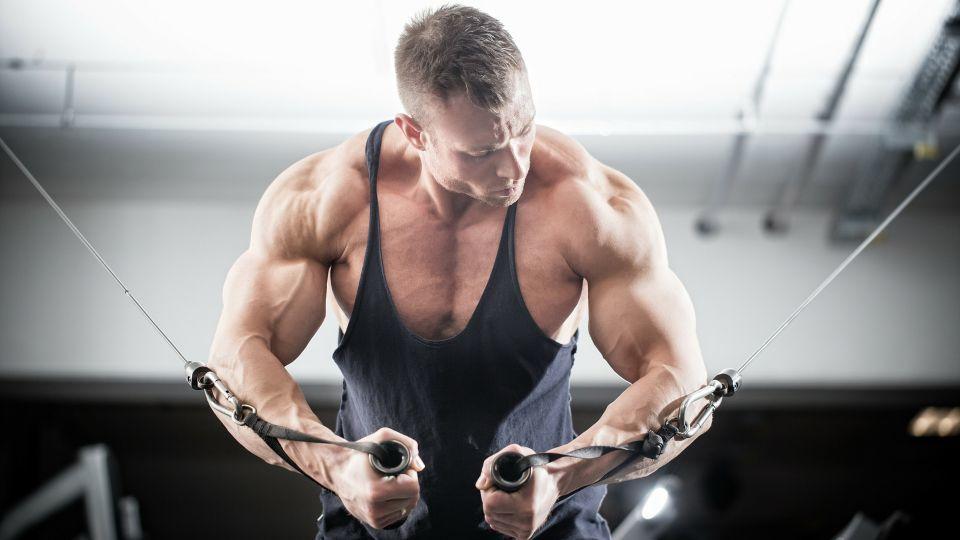 brustmuskeln aufbauen mann